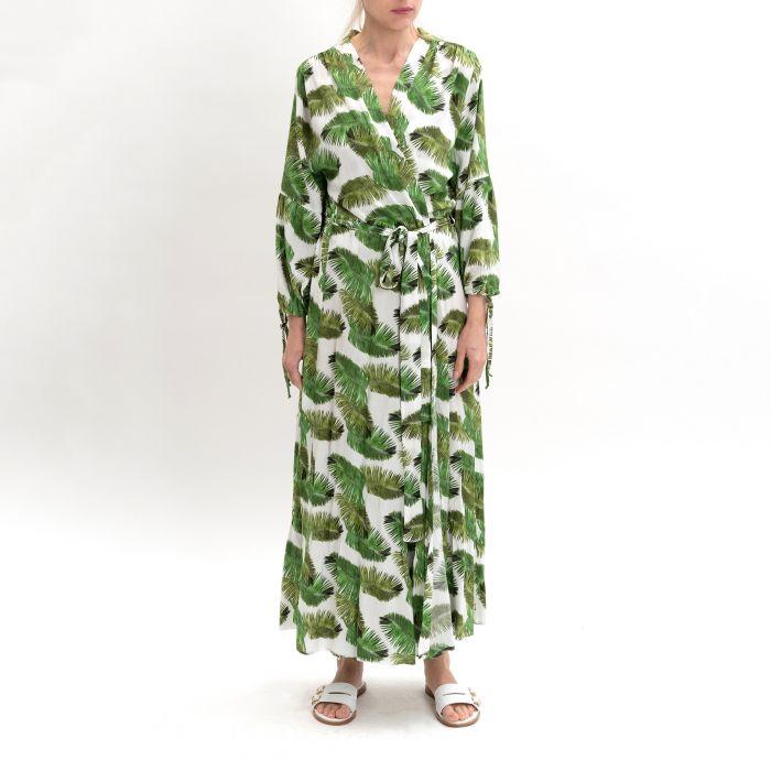 Халат Melissa Odabash Margo  бело-зеленый