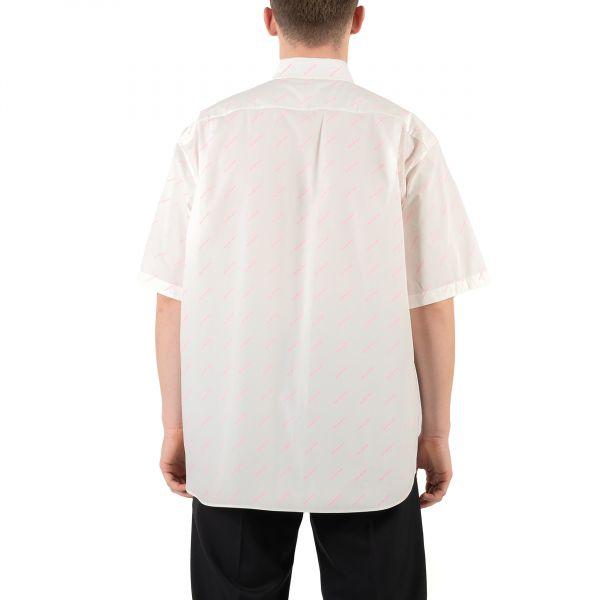 Рубашка с короткими рукавами Balenciaga белая