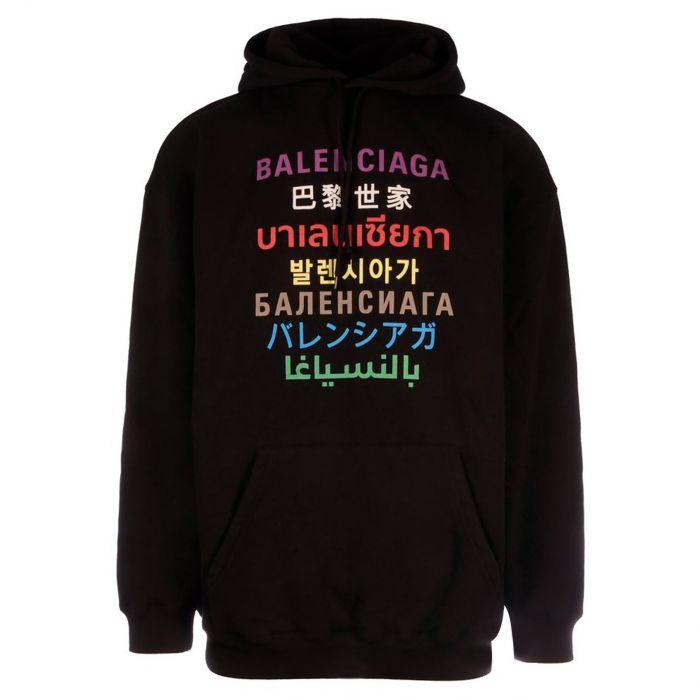 Худи Balenciaga черное