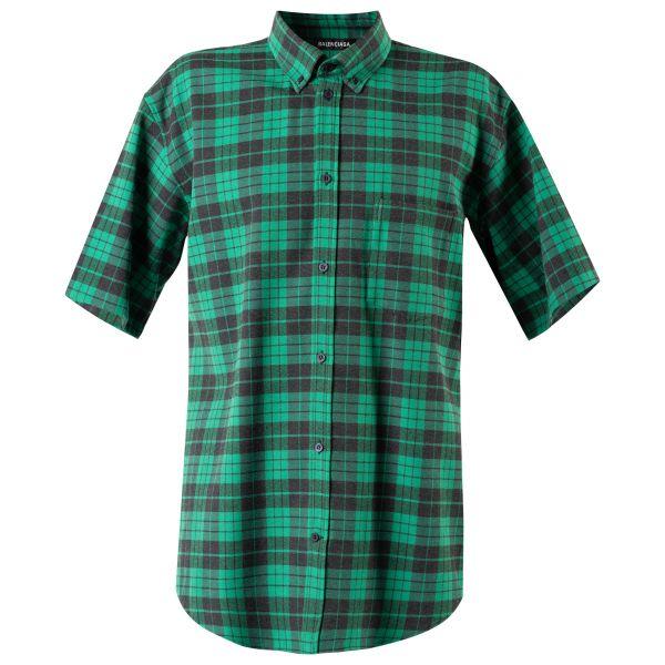 Рубашка кор.рук. Balenciaga зеленая