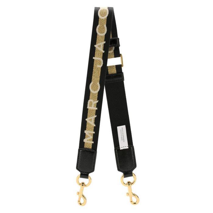 Ремень для сумки Marc Jacobs черно-золотистый