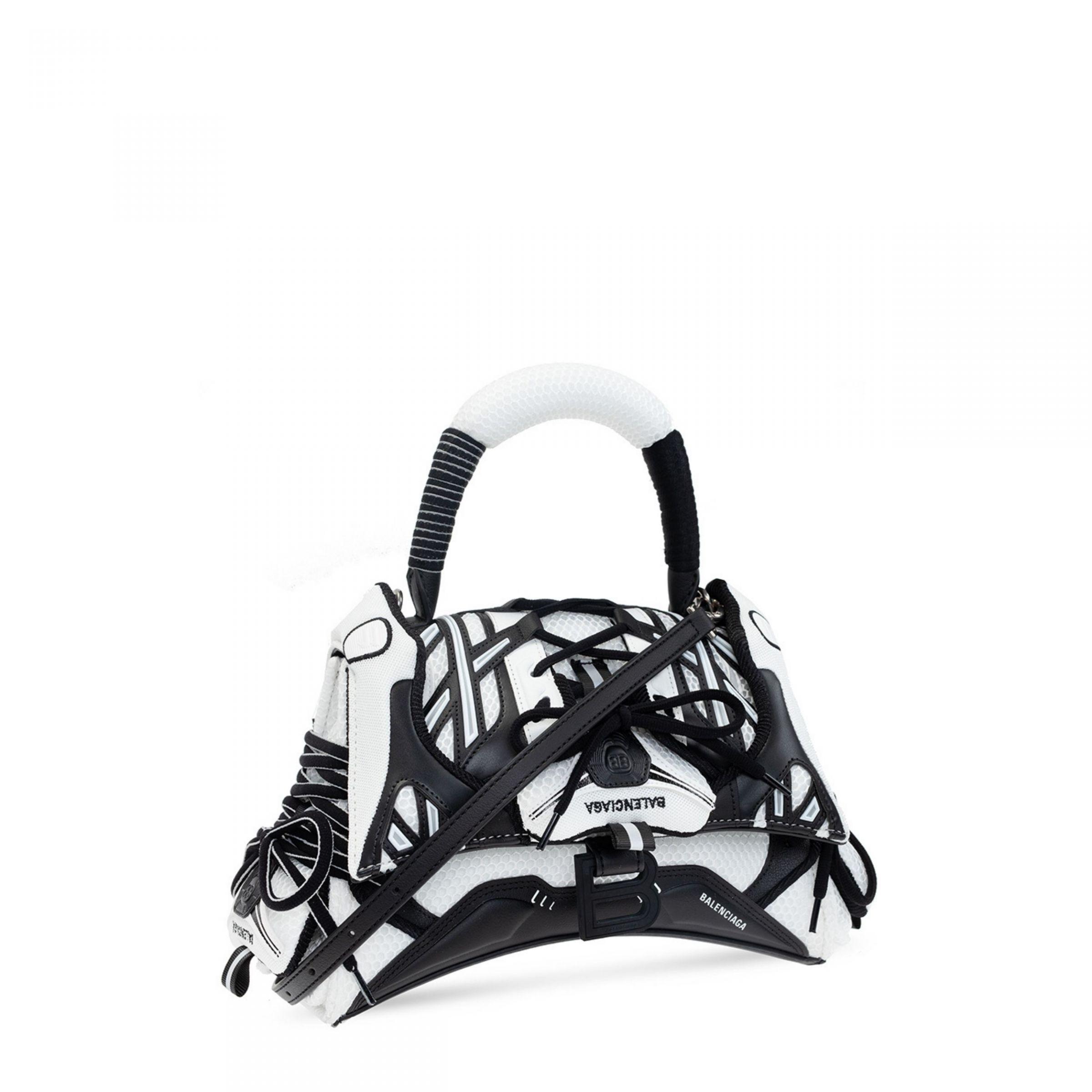 Сумка Balenciaga SNEAKERHEAD черно-белая