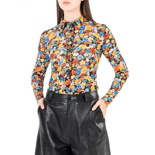 Рубашка длин.рук. Ganni разноцветная