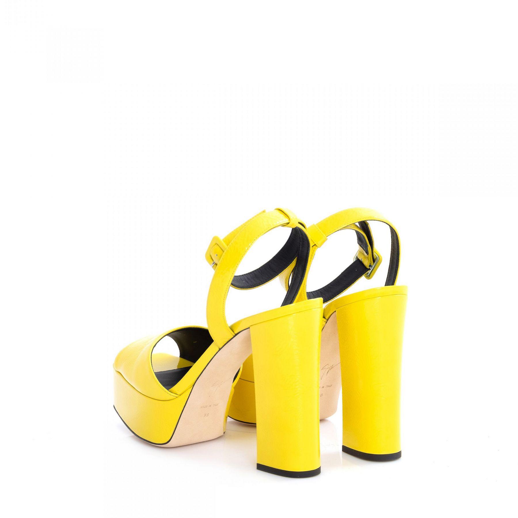 Босоножки Giuseppe Zanotti Betty желтые