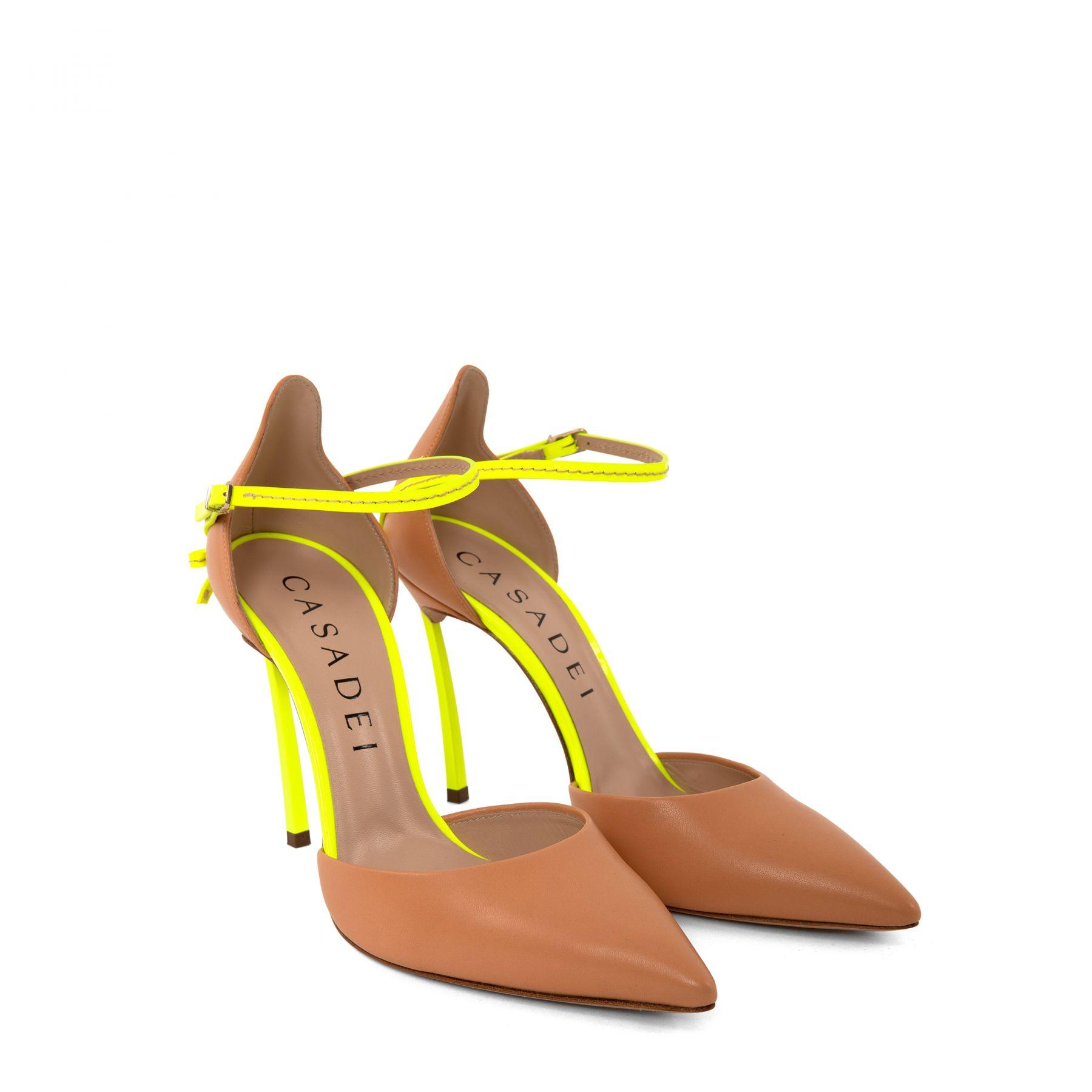Туфли Casadei Blade Penny бежевые