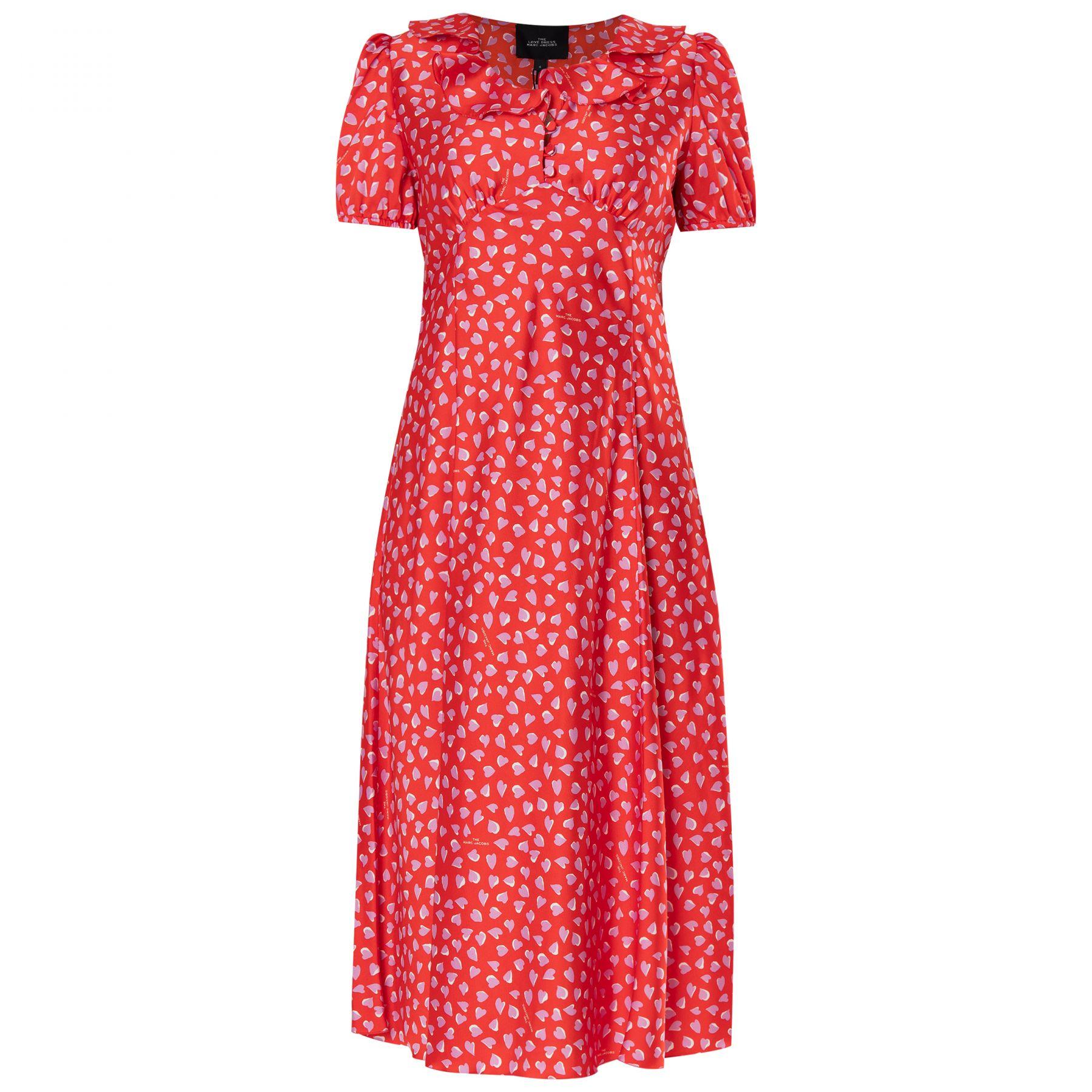Платье Marc Jacobs THE LOVE красное