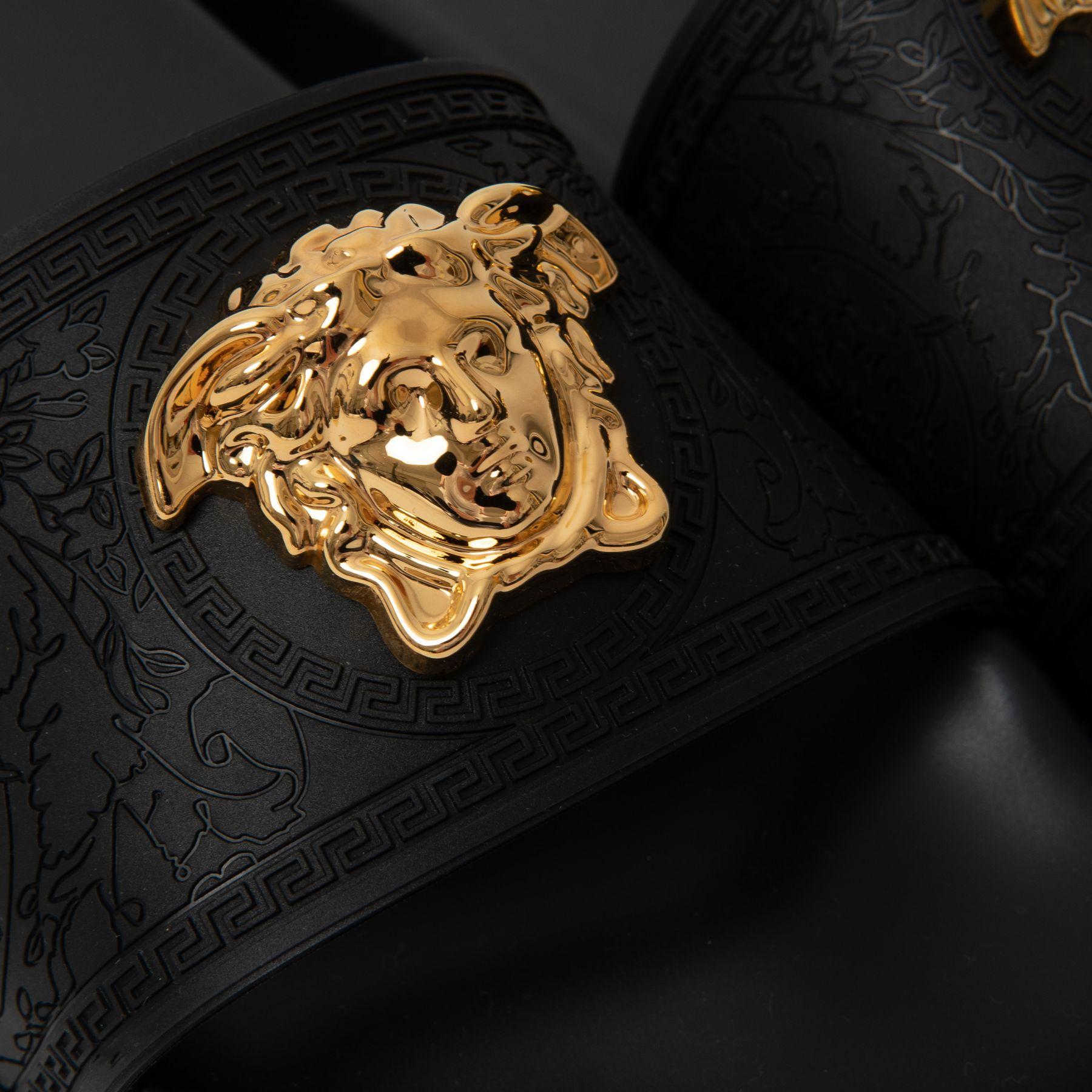 Шлепанцы Versace Palazzo черные