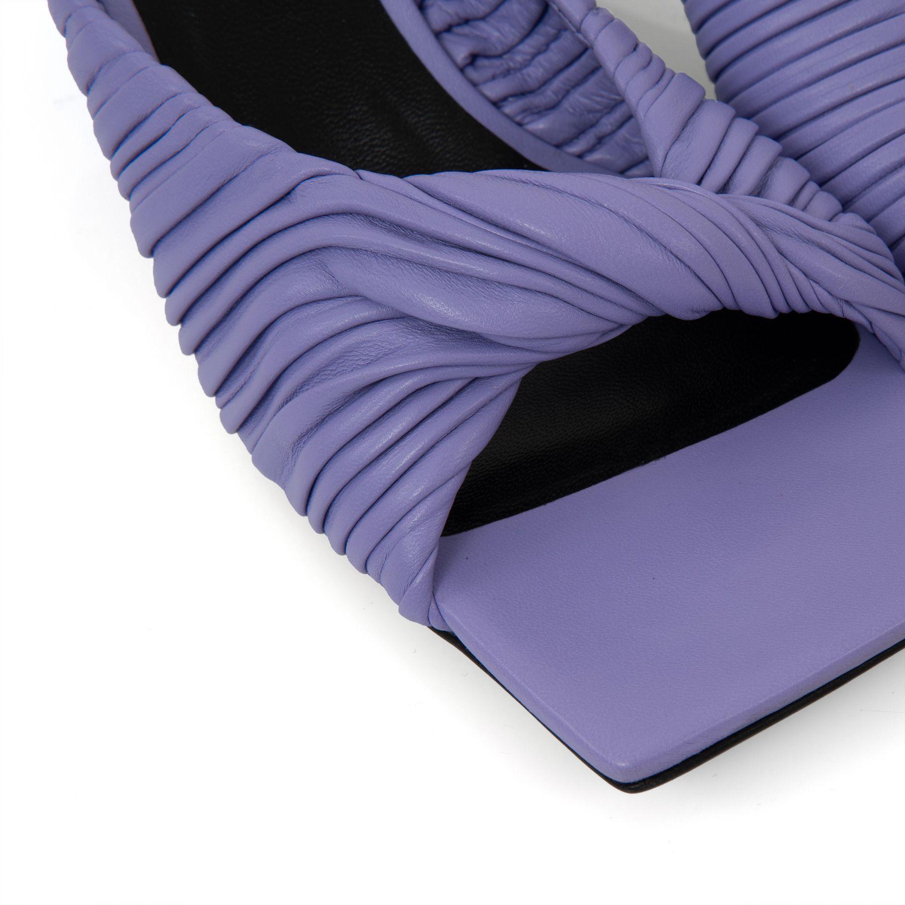 Мюли Versace Plisse лиловые