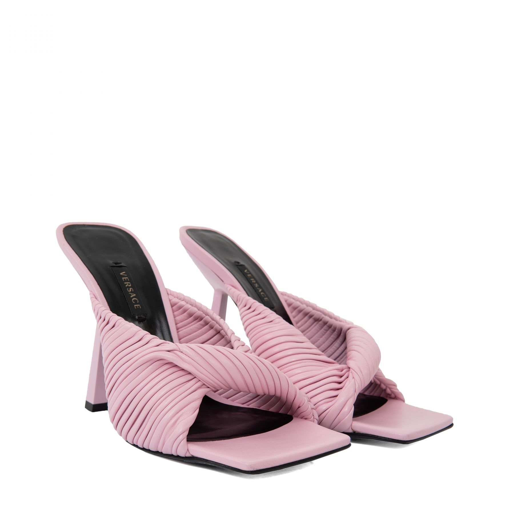Мюли Versace Plisse розовые