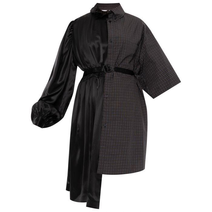 Платье Balenciaga черно-коричневое