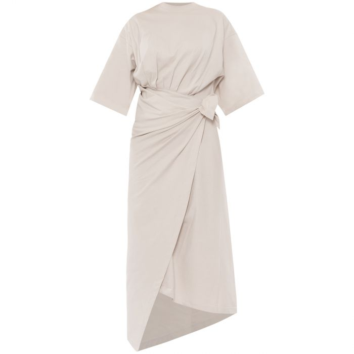 Платье Balenciaga светло-бежевое