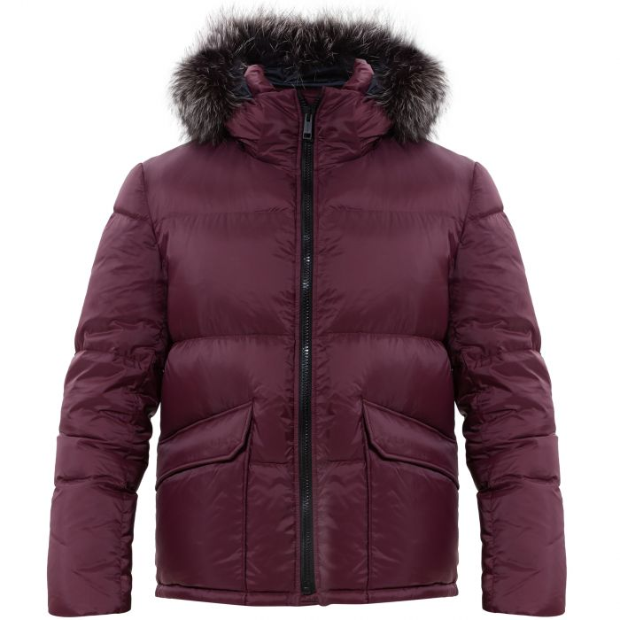Куртка Yves Salomon бордовая