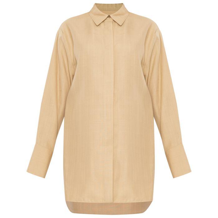 Рубашка с длинными рукавами Joseph Brena бежевая