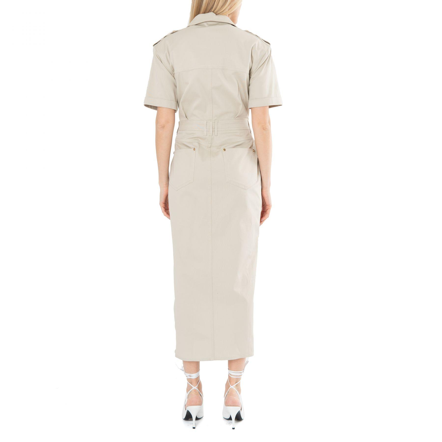 Платье Balmain бежевое