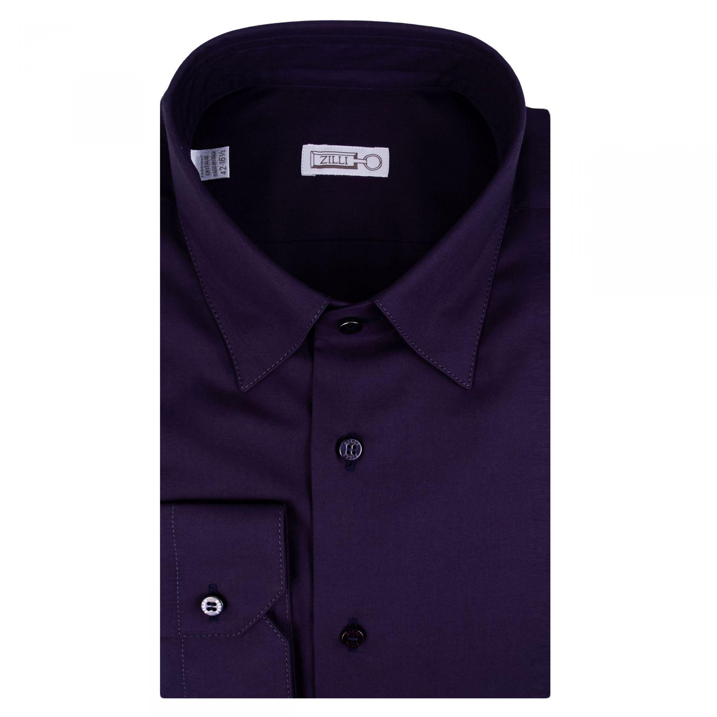Рубашка с длинными рукавами Zilli фиолетовая