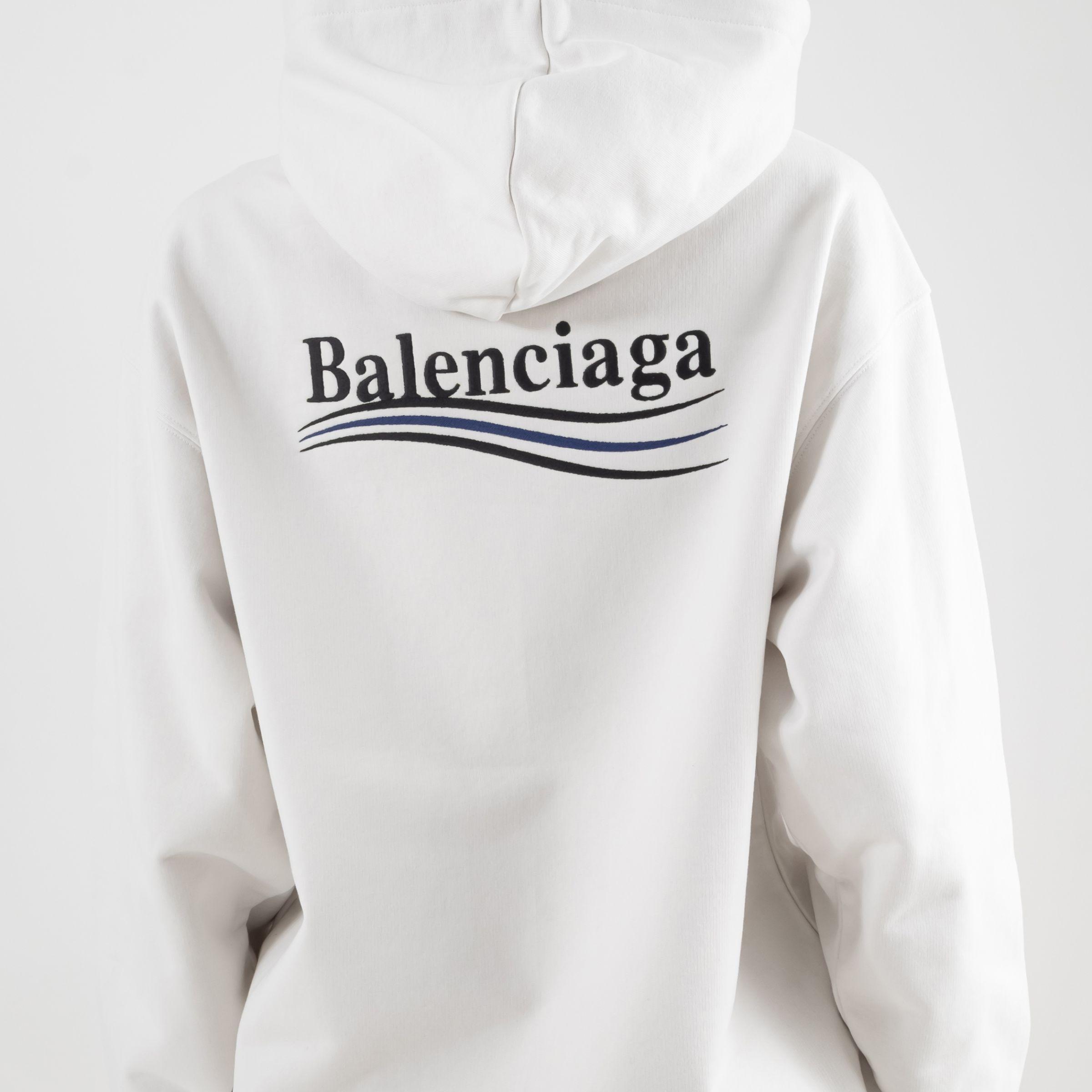Худи Balenciaga светло-серое