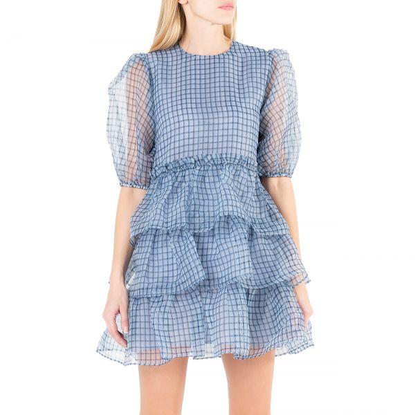Платье Ganni голубое