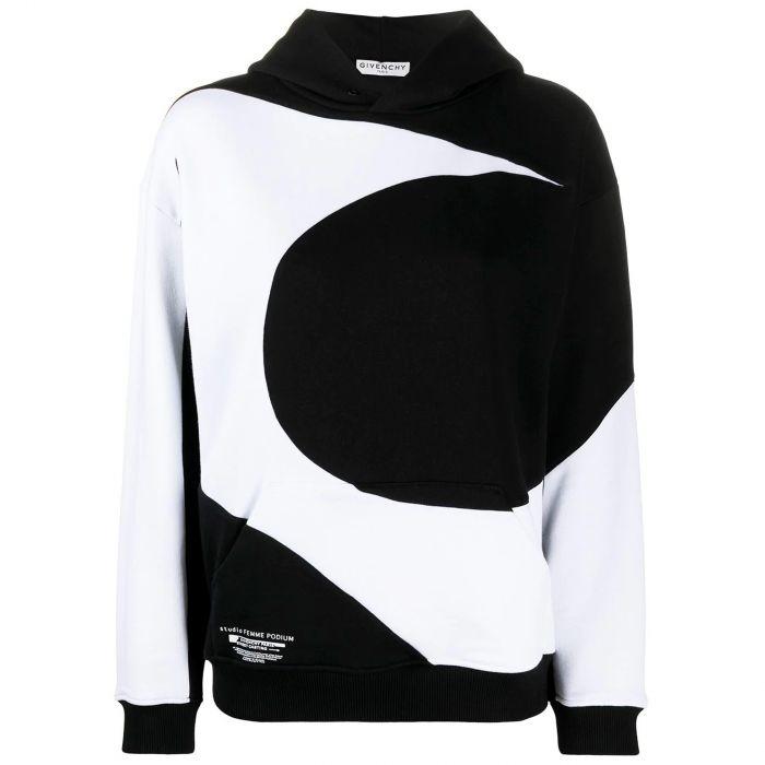 Худи Givenchy черно-белое