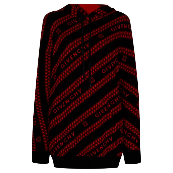 Худи Givenchy черно-красное