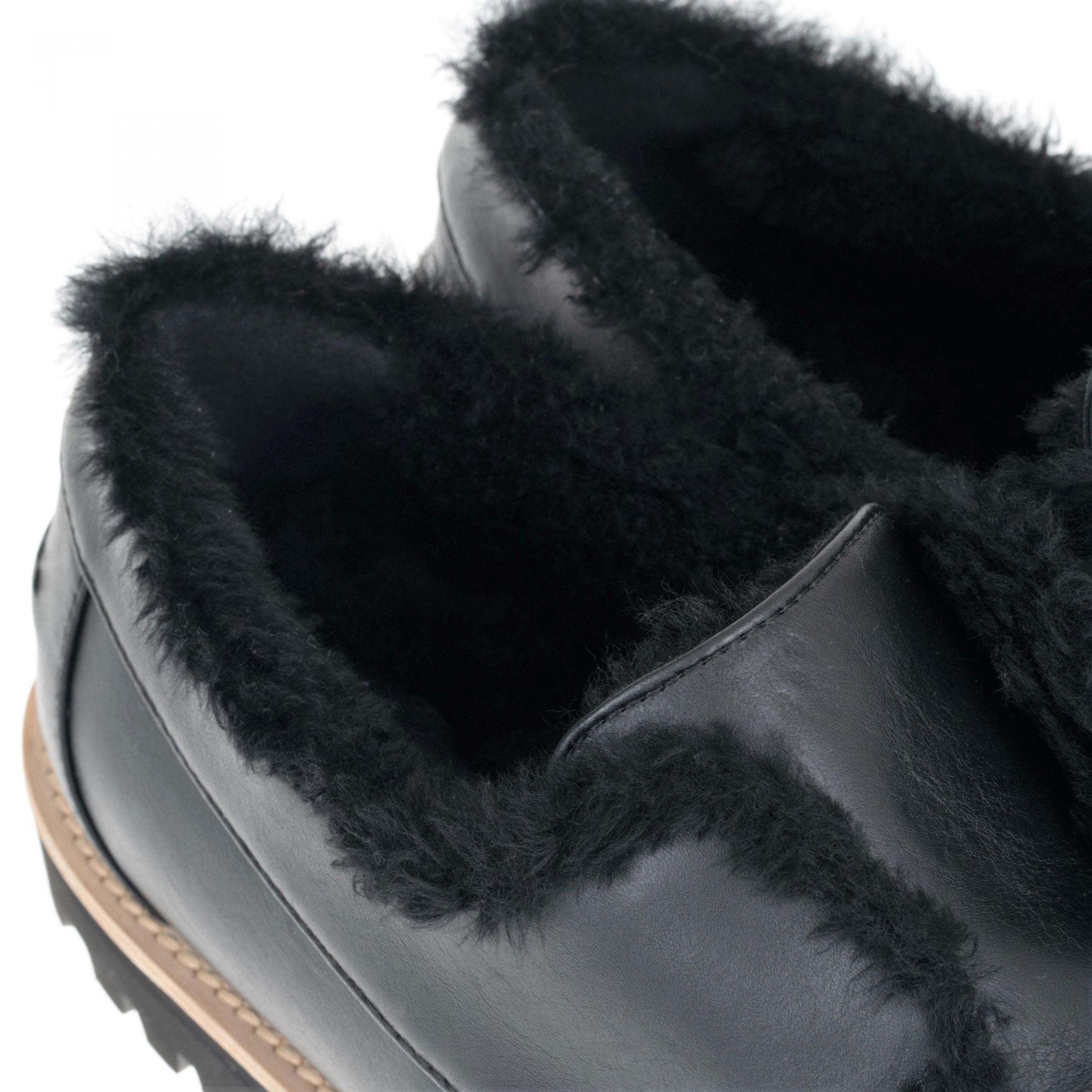 Лоферы на меху Le Silla черные