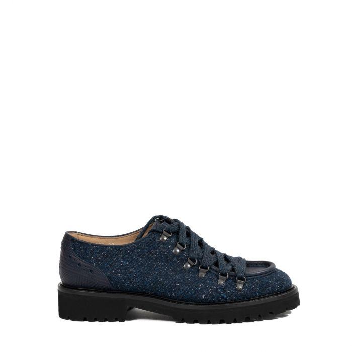Туфли на меху Doucal's Rome синие