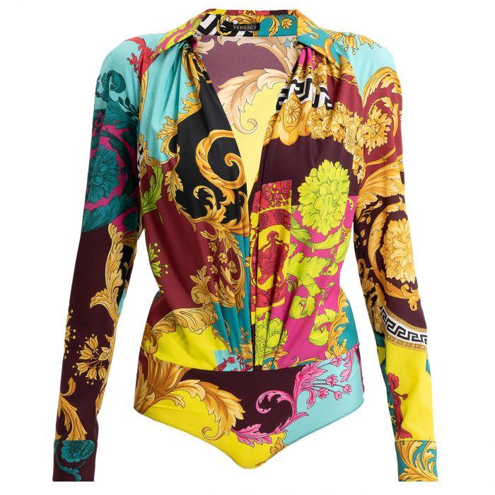 Боди Versace разноцветное