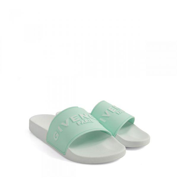Сандалии Givenchy бело-зеленые