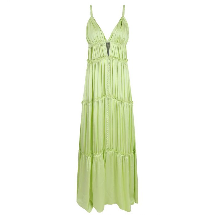 Платье Jonathan Simkhai салатовое