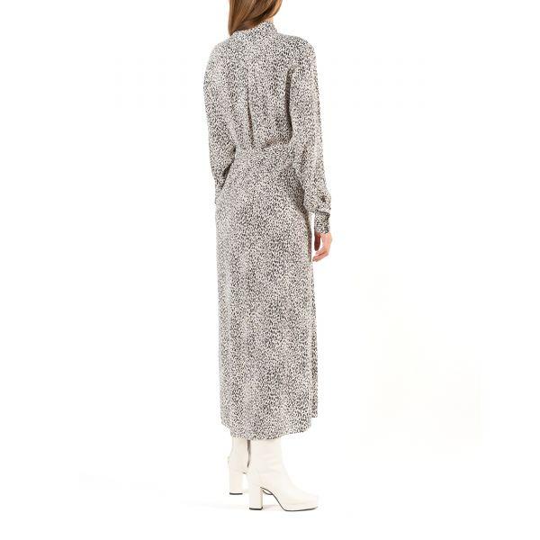 Платье длинное Kenzo черно-белое
