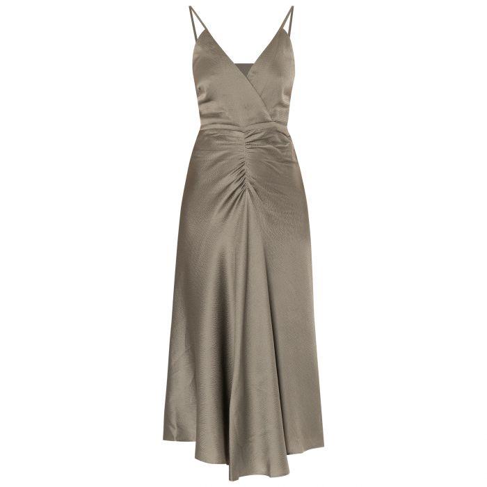 Платье Jonathan Simkhai Lizeth оливковое