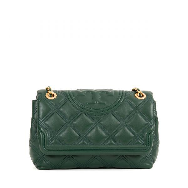 сумка Tory Burch Fleming Convertible темно-зеленая